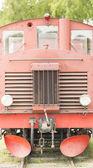 Old style diesel train engine, Sweden — Stock Photo