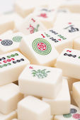 Mahjong board game pieces — Stock Photo