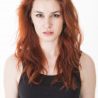 Angry young lady with red hair — Stock Photo #25127065