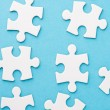 White blank pieces of a puzzle — Foto Stock