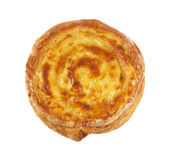 Cheese pie isolated on white background — Stock Photo