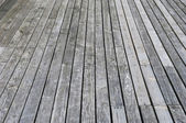 Aged gray wooden terrace floor — Foto Stock