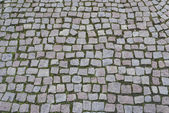Background image of old cobblestone road — Foto Stock