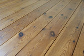 Brown wooden terrace floor — Stock Photo
