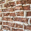 Stockfoto: Background of old vintage crumbling brick wall