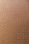 Modern brick wall in a bright sunny day as background. Look from — Foto Stock