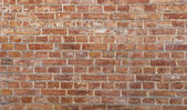 Background of old vintage dirty brick wall — ストック写真