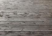 Gray wooden outdoor terrace floor — Stock Photo
