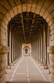 A view through the Viaduct de Passy, Paris — Stock Photo