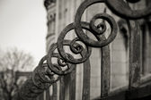 Row of iron posts — Stock Photo