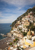 View of Positano cliff side — Stock Photo