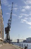 Crane at Victoria Dock — Stock Photo