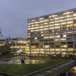St Thomas' Hospital at Dusk — Stock Photo