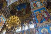 Lustr uvnitř ruské církve — Stock fotografie