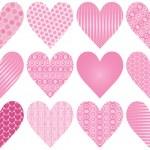 Twelve Hearts, colors completely editable — Stock Vector #8996221