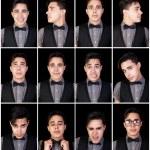 One Man Many Faces — Stock Photo