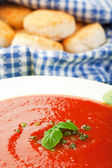 Tomato Soup with Homemade Biscuits — 图库照片