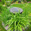 Stock Photo: Bird Bath Garden Feature