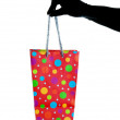 Stock Photo: Glitzy Christmas Gift Bag