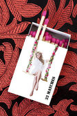 Pinup Girl Matchstick Box — Stock Photo
