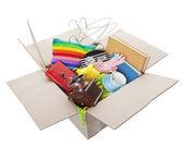 Dobročinný bazar box — Stock fotografie