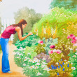 Stock Photo: The Flower Garden
