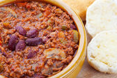 Chili and Biscuits — Stock Photo