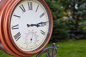 Garden Clock — Stock Photo