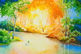 River of Gold — Stock Photo