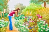 The Flower Garden — Stock Photo