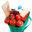 Groceries in Reuseable Bag — Stock Photo