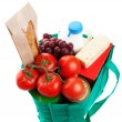 Groceries in Reuseable Bag - Stockfoto