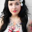 Rockabilly Girl — Stock Photo