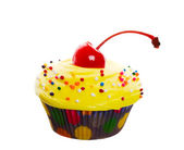 Fancy Yellow Cupcake — Stock Photo