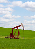 Prairie Pump Jack — Stock Photo
