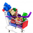 Shopping Cart Full of Presents — Stock Photo