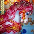 Red Carousal Horse — Stock Photo