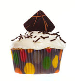 Chocolate Wafer Cupcake — Stok fotoğraf