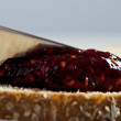 Jam and Bread Macro — Lizenzfreies Foto
