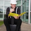 Inspector With File — Stock Photo