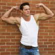 Flexing Bodybuilder — Stock Photo #15680705