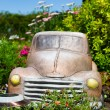 Royalty-Free Stock Photo: Truck in Flower Bed