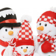 Stock Photo: SnowmFamily Christmas