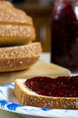 Bread and Jam — Stockfoto