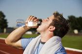 のどが渇いて選手 — ストック写真