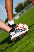 Soccer Feet — Stock Photo