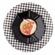 Prosciutto and Provolone Canape with Clipping Path - Stock Photo