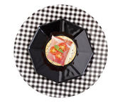 Prosciutto and Provolone Canape with Clipping Path — Photo