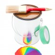 Paint Can and Brush — Stock Photo #19204273