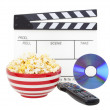 Movie and Popcorn - Stock Photo